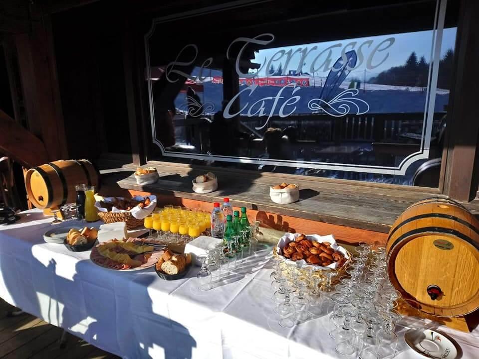 buffet groupes et séminaires au Terrasse Café de Megève