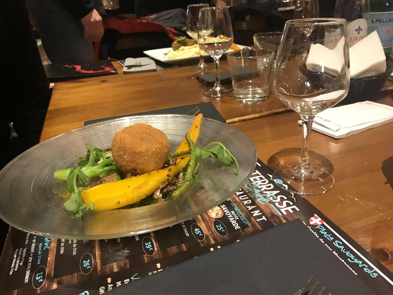 Repas au terrasse Café de Megève